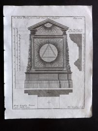 Langley 1777 Antique Architectural Print. Altar Piece 106